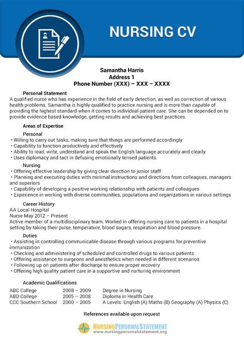 How To Write A Nursing Resume New Grad by Pin By Nursing Personal Statement Sles On Nursing Cv