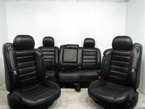 03-07 Hummer H2 Front Bucket Black Leather Seats Suv
