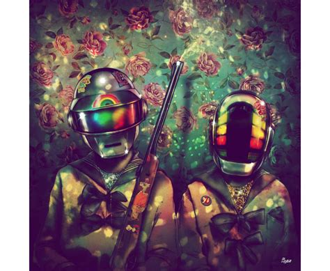 daft punk shows daft punk art show showcases french duo in new