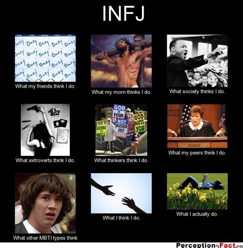 Infj Memes - infj what people think i do what i really do perception vs fact