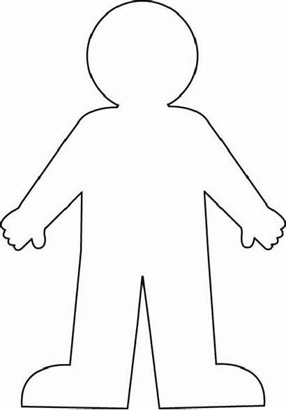 Outline Human Clipart Clip Drawing Person Generic