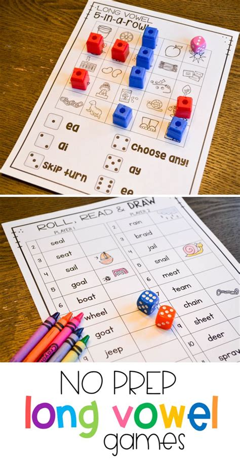 These Fun Long Vowel Activities Are Great Phonics Practice For Students In Kindergarten, First