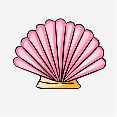 Seashell Purple Shell Sea Painted Flower Hand