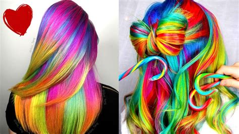 10 Best Ombre Rainbow Hair Dye Transformations Video