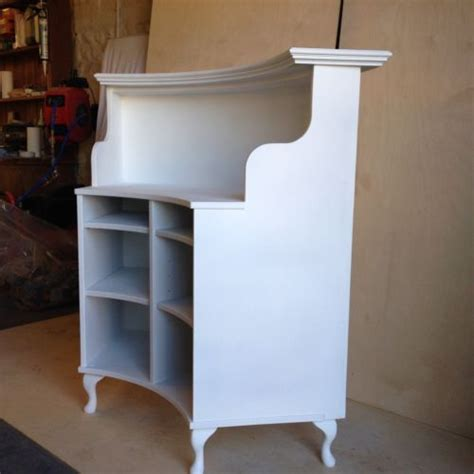 shabby chic reception desk curved salon reception desk french style shabby chic painted satin white satin shabby and