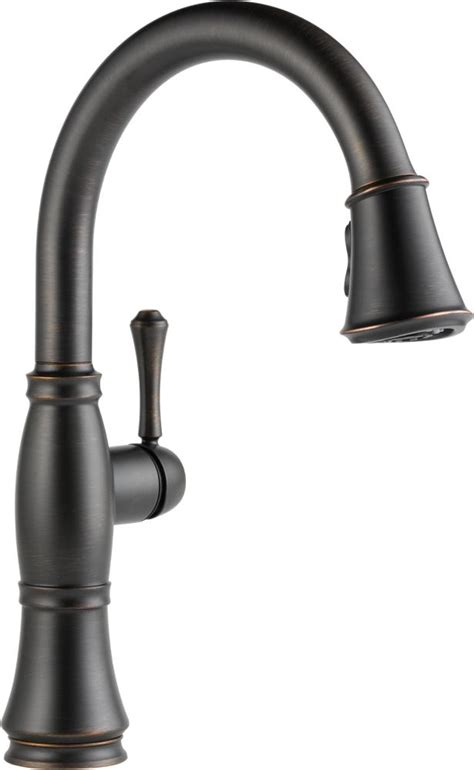 amazon delta kitchen faucets delta faucet 9197 ar dst cassidy single handle pull