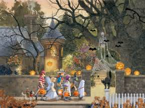Halloween Themed Brain Teasers by Friends On Halloween Jigsaw Puzzle Puzzlewarehouse Com
