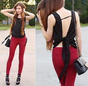 Outfit Ideas with Red Trousers - Outfit Ideas HQ