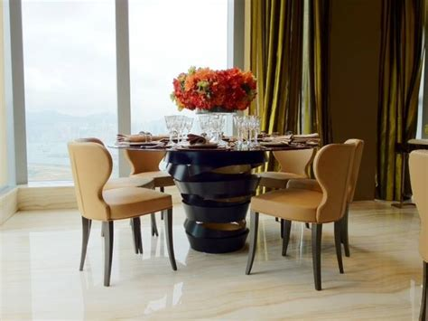 luxury  elegant dining rooms sets brass dining tables