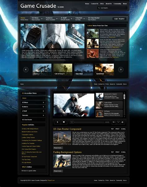 Game Crusade Premium Joomla Gaming Template