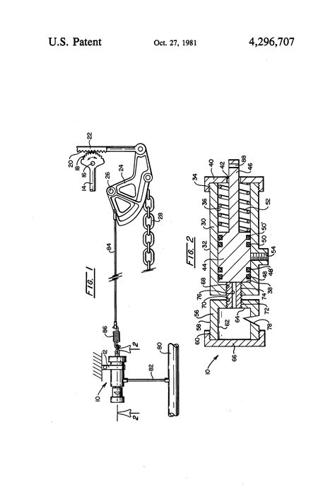 Patent US4296707 - Railroad car hand brake signal device