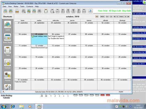 active desktop calendar    pc