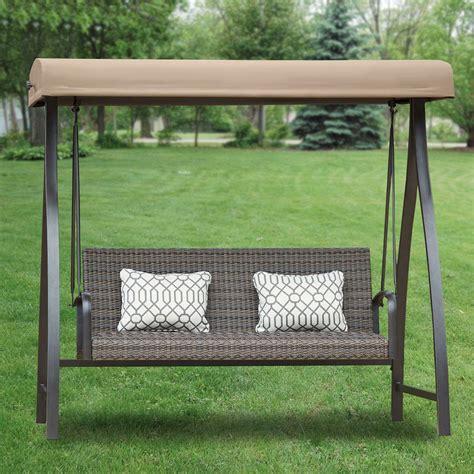 patio swing with canopy costco 3 person futon swing costco