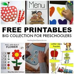 teachers archives teaching 2 and 3 year olds 364   Free Printables 300x300
