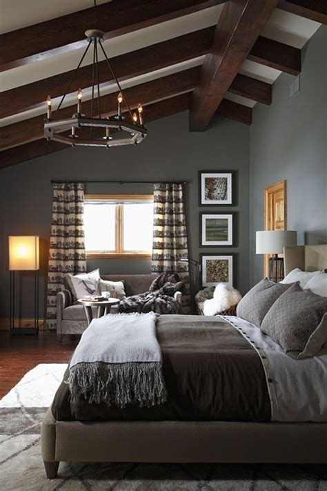 beautifully styled grey bedroom  elegantly