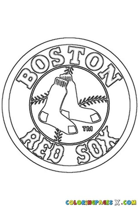 red sox logo coloring pages copics pinterest logos