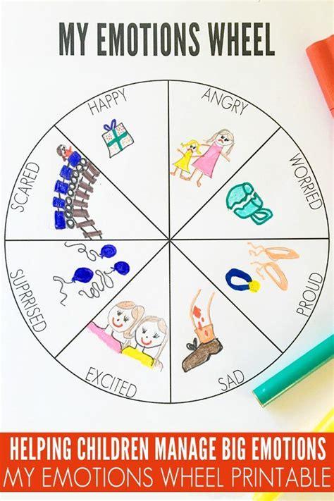my emotions wheel printable wheels