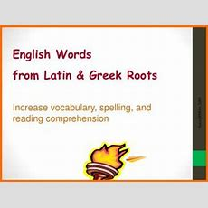 Ppt  Introduction To Greek & Latin Rootsaffixes Powerpoint Presentation Id1892550