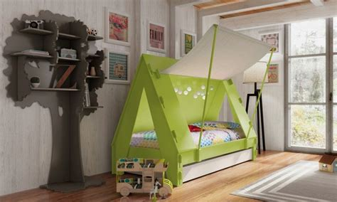 kids bed  shaped   tent lit tente  great