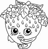 Shopkins Strawberry Kiss Coloring Play sketch template