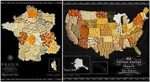 Carte Des Pays R U00e9alis U00e9e Avec De La Nourriture