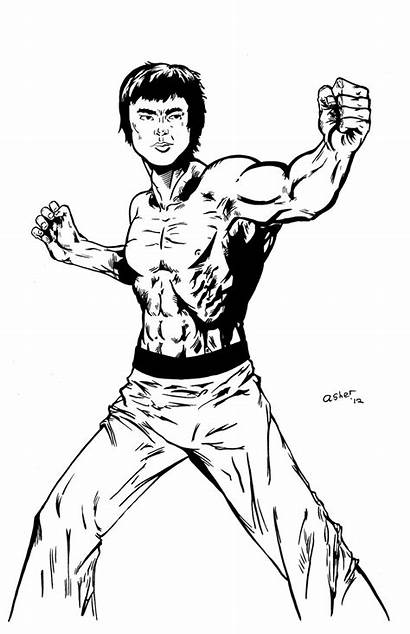 Bruce Lee Deviantart Coloring Inks Pages Drawings