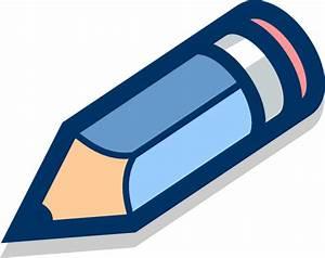Blue Pencil Tilted Clip Art at Clker.com - vector clip art ...