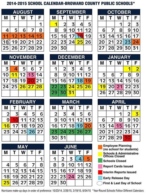 broward county schools 2014 2015 calendar broward 215 | a84877a3ca38d5331e0dec252f0e495d calendar school calendar
