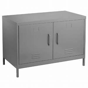 Meuble Bas Porte : meuble console buffet bas de rangement 2 portes coloris ~ Edinachiropracticcenter.com Idées de Décoration