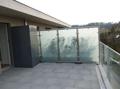 Windschutz Balkon Glas by Glaswindschutz Panther Glas
