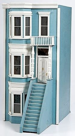 decorative story townhouse dollhouse american wood townhouse 3 story bay