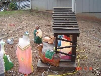 outdoor wood nativity stable