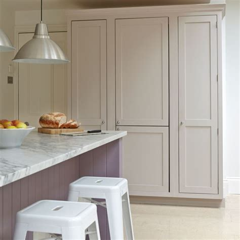 Floor To Ceiling Cupboards by White And Lavender Kitchen With Floor To Ceiling Cupboards
