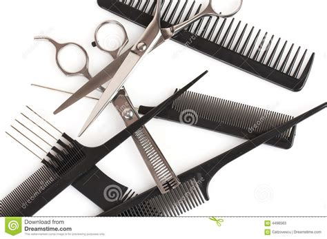 set  combs  scissors hairstyle accessories stock