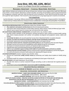 clinical dietitian resume example nutritionist With dietitian resume