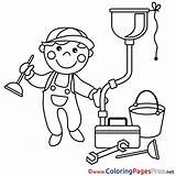 Plumber Coloring Pages Template sketch template
