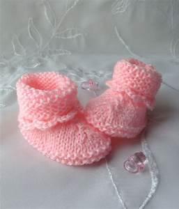 Photo De Bébé Fille : chausson naissance fille v tement b b ~ Melissatoandfro.com Idées de Décoration