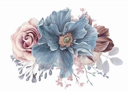 Dusty Watercolor Mauve Floral Elegant Pillow Flowers