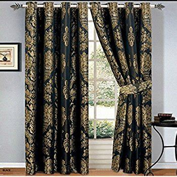 black and gold drapes black gold jacquard lined curtains 90 x 90 quot co