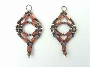 Free Beading Pattern For Tila Net Earrings