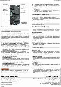 Mertik Maxitrol And Kg B6r Handset Of Remote Electronic
