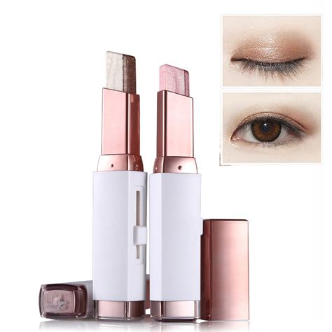 fashion eye shadow stick double color gradient eyes makeup