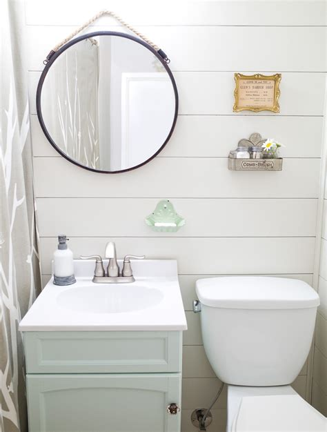Farmhouse Style Bathroom Makeover in One Weekend   Hello
