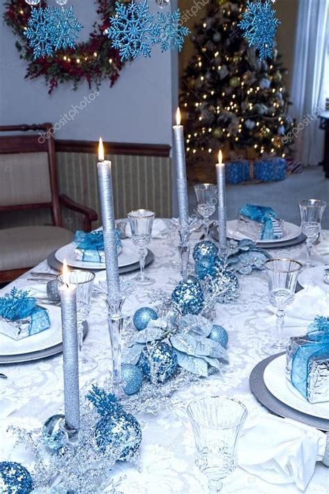 turquoise  silver table decorations table ideas