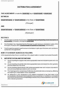 simple distribution agreement template distribution With distributorship agreement template