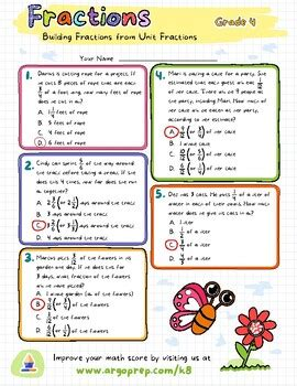 fractions worksheet grade  printable worksheets