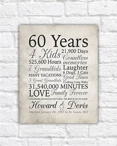 60th anniversary gift 60 years married or any year gift for With 60 wedding anniversary gift