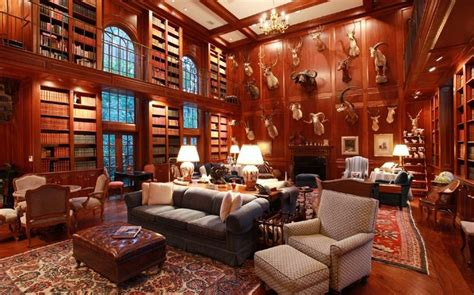luxury homes  libraries  sale fireplaces