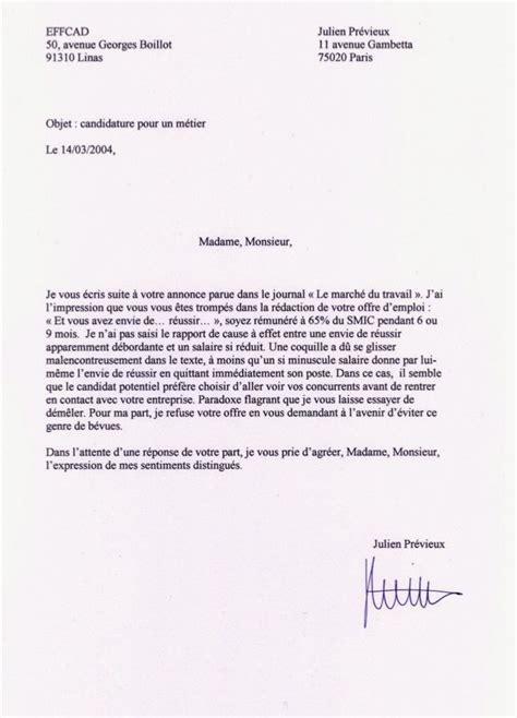 commis de cuisine suisse julien prévieux et ses lettres de non motivation
