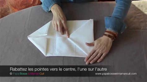 pliage de serviette porte couvert pliage serviettes le pliage de serviette en pochette avec ou sans